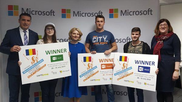 A fost trasata axa Bucuresti - New York a competentelor digitale, pentru finala Campionatului Mondial Microsoft Office Specialist 2019