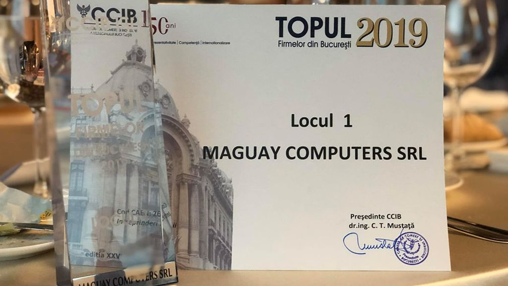 Compania Maguay a fost premiata de Camera de Comert si Industrie a Municipiului Bucuresti pentru performante in afaceri